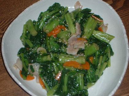 かき菜の炒め物