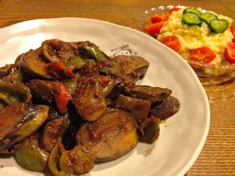 茄子とピーマンの鍋しぎ
