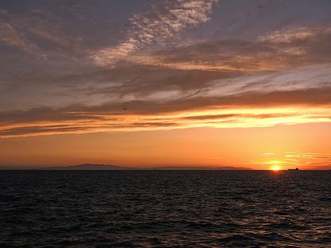 ④明石海峡の夕暮れ
