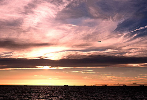 ③明石海峡の夕暮れ