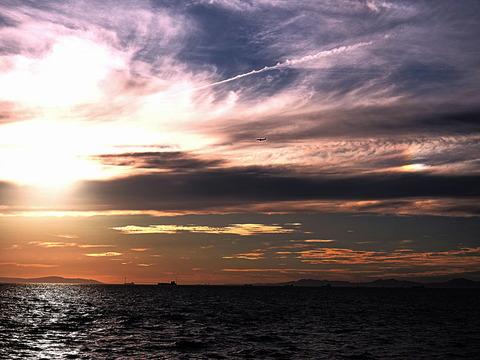 ②明石海峡の夕暮れ