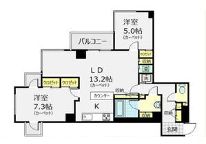ルモン紫野 8階間取り