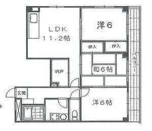 東山区小松町11−21 グランコート高台寺4階間取り