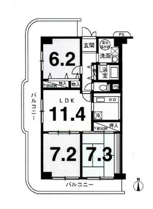 ユニハイム四条梅津4階