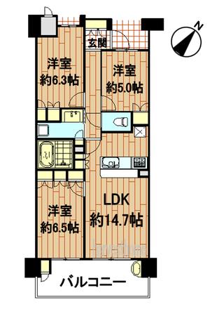 ジ・アーバネックス京都松ヶ崎3階間取り