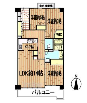 イトーピア東山紫源苑 4階間取り