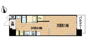 エステムコート京都河原町プレジール5階間取り