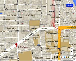 ライオンズマンション北大路地図