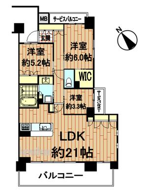 オークプレイス京都北大路4階間取り