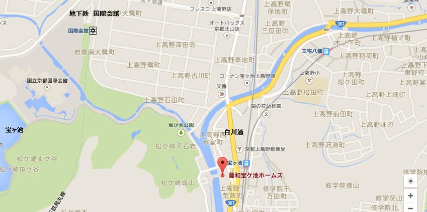 藤和宝ヶ池ホームズ地図