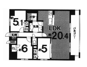 リソシエ・ヴァリエ西院 4階