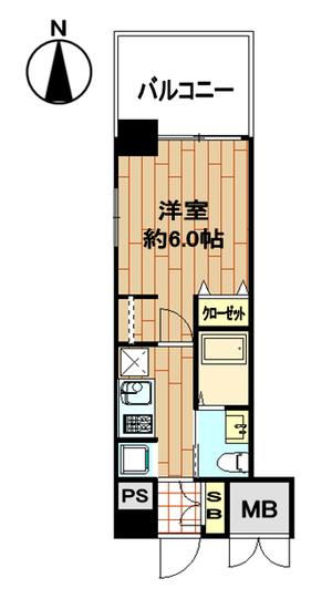 エステムプラザ京都三条大橋406号室間取り