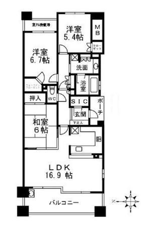 エル・パークスクエア京都鴨川6階