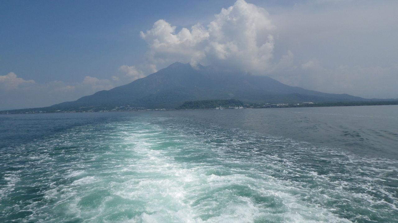 上空 の 風向き 桜島