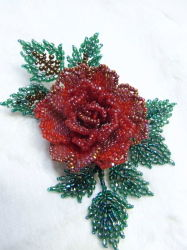 3D red rose tate