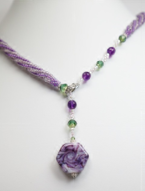 Lavender Drop Necklace
