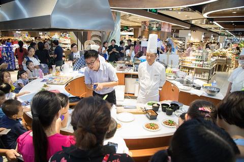 深圳の Rainbowでの料理ワークショップ