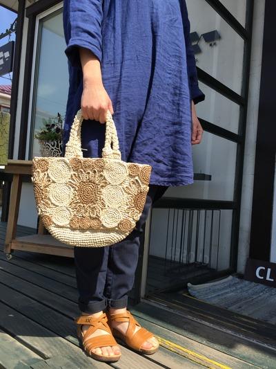 スルシィのラフィアバッグ