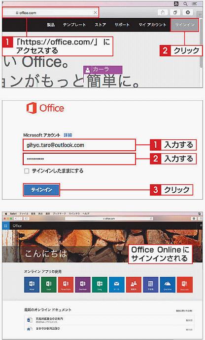 Office Onlineにサインインする