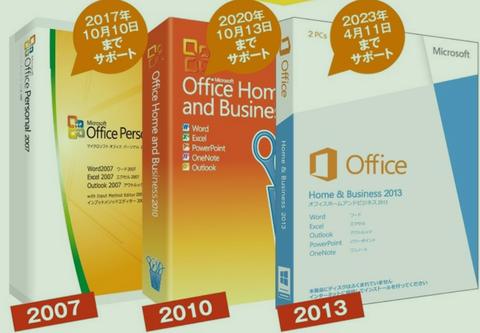Office 2007、2010、2013