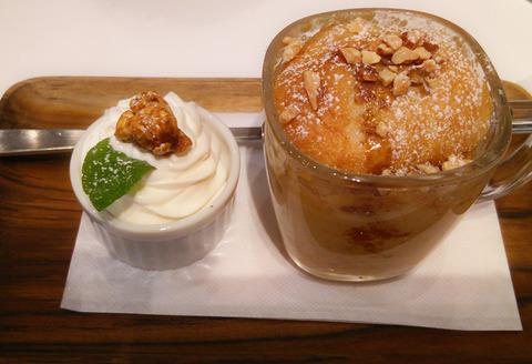 バニラ&塩キャラメルのマグケーキ