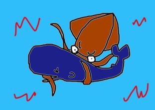 イカVSクジラ