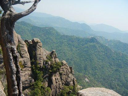 6-上の岳の岩稜を望む