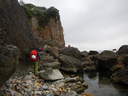 1魚瀬の岩場