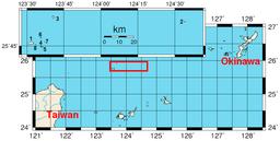 尖閣諸島地図