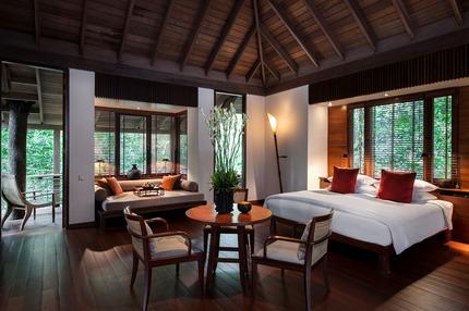 The Datai Langkawi - rainforest villa - bedroom