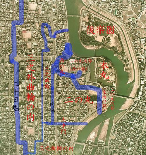 562px-Okayama_Castle_map