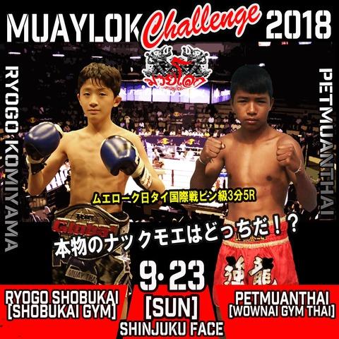 2018MUAYLOKムエローク日タイ国際戦ピン級3分5
