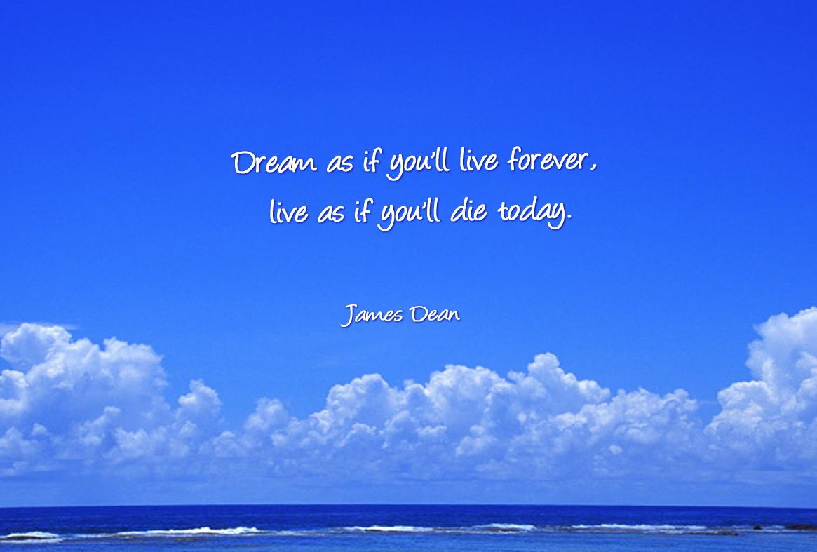 ジェームズ ディーンの言葉 夢現英語 今日死ぬつもりで生きろ