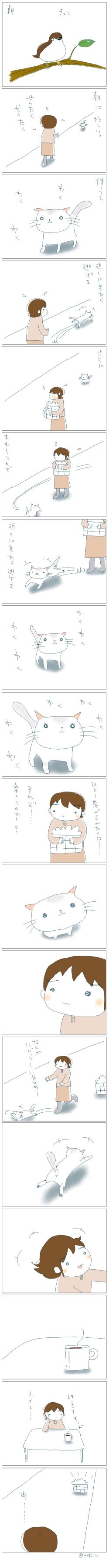 猫と一緒-20080327