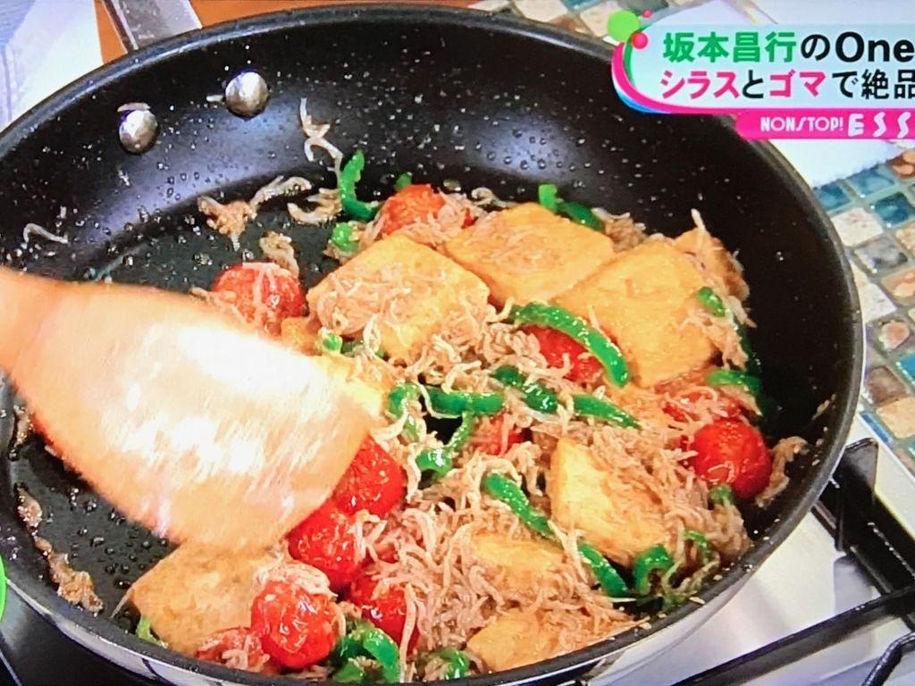 みりん、しょうゆで味付けをして、②の豆腐を戻し入れる