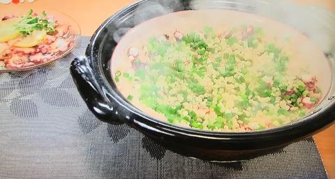 【タコと生姜の炊き込みご飯】【タコの和風カルパッチョ】
