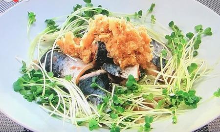 【サバの揚げ焼き ネギおろしソース】レシピ
