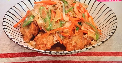 【レンもちの鶏そぼろあん】レシピ