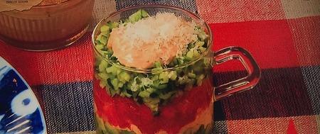 【彩り野菜のカップサラダ】レシピ