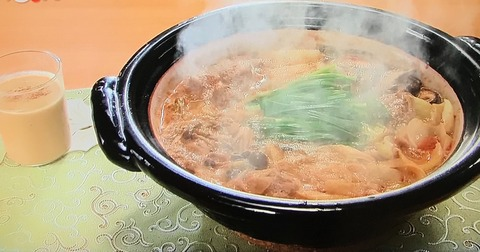 【肉団子の担々鍋】【プリンでホットゴマセーキ】レシピ