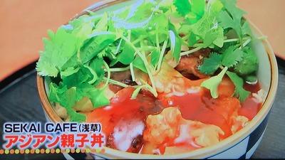 SEKAI CAFE(浅草)アジアン親子丼
