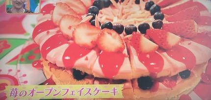 苺のオープンフェイスケーキ