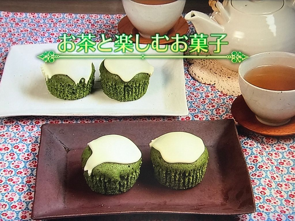 抹茶の蒸しケーキ