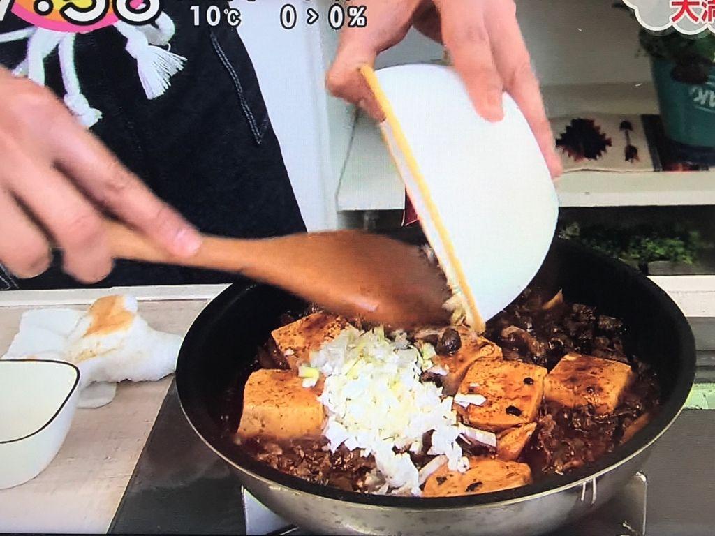 Aを順に加えて①の豆腐を加え1~2分煮て、長ねぎ(白い部分)を加え、水溶き片栗粉でとろみをつけ器に盛り付ける