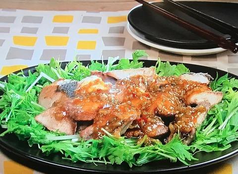 3分クッキング【ぶりと春菊のザーサイ辛みあん】レシピ
