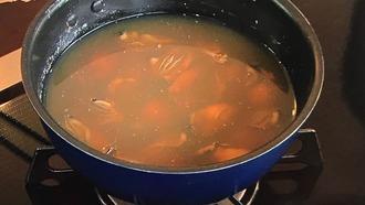 煮汁を冷ます