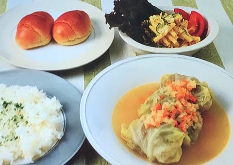 【コンソメスープのロールキャベツ】【マカロニサラダ】レシピ