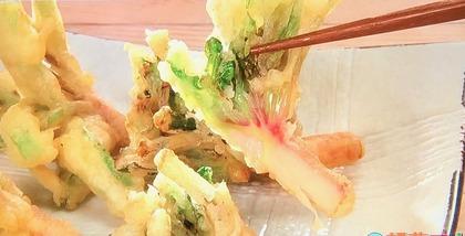 【赤根ほうれん草の根の天ぷら】レシピ