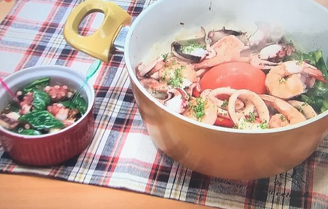 【魚介とトマトの炊き込みご飯】【タコのアヒージョ風】レシピ