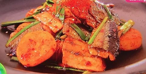 坂本昌行の今日のOnedish【サンマと長いものキムチ炒め】レシピ